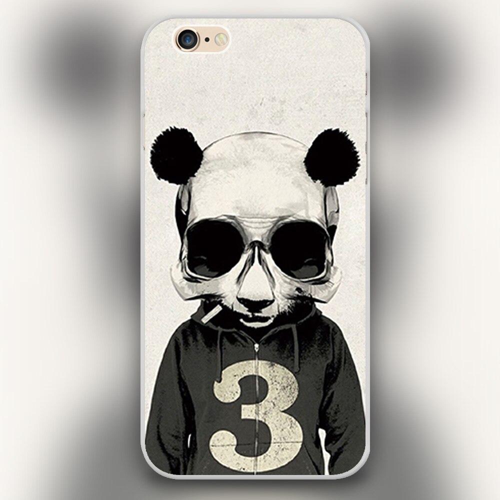 New arrived b w panda skull wallpaper design white skin - Skull wallpaper iphone 6 ...