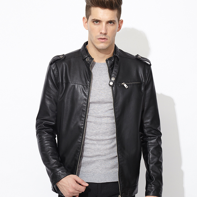 2015 Men's Leather Jacket New Hot Sale Brand Leather Jackets Men ...