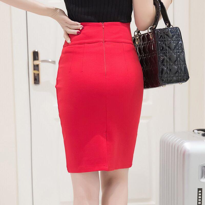 c10470451 € 12.24 26% de DESCUENTO|Faldas de oficina de mujer a la moda 2017 a la  altura de la rodilla de cintura alta para mujer Bodycon Falda de tubo con  ...