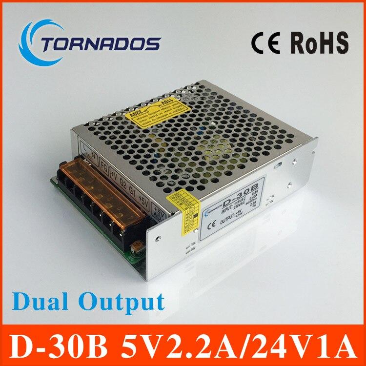 dual Output Switching power supply  transformer 35W 5V 2.2A 24V 1A ac to dc power supply ac dc converter D-30B sp 600 24 pfc switching power supply 600w 24v 25a single output parallel ac dc power supply ac110v 220v transformer to dc 24 v