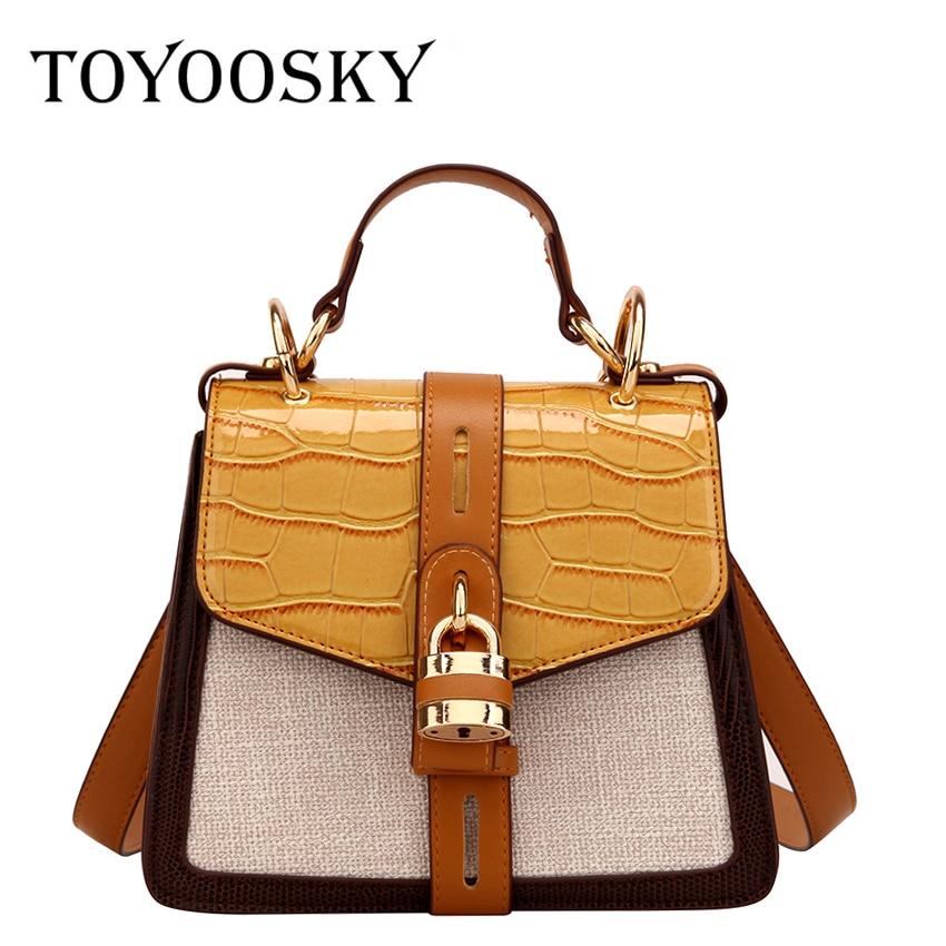 TOYOOSKY Female Crossbody Bags For Women High Quality Alligator Leather Luxury Handbag Designer Sac A Main Ladies Shoulder Bag