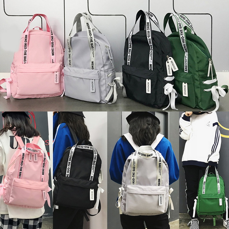 Adisputent Portable Backpack School-Bags Teenagers Preppy-Style Girls Fashion Women Bow