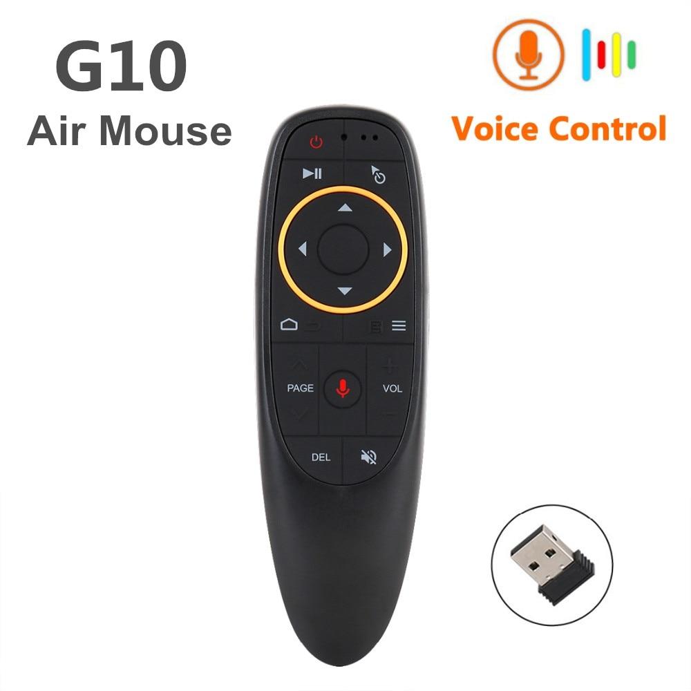 Neue G10S Stimme Air Maus 2,4 GHz Wireless Google Mikrofon Fernbedienung IR Lernen 6-achse Gyroskop für Android TV Box PC
