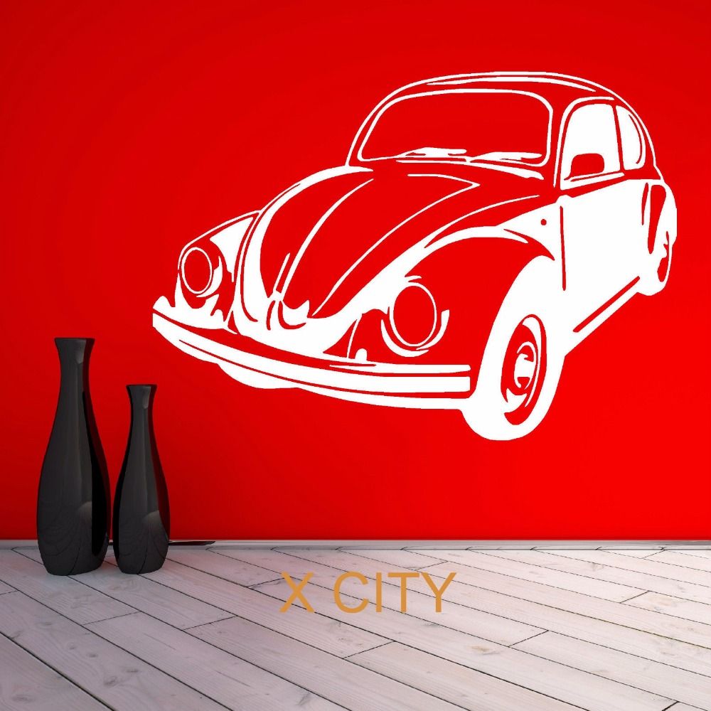 FOR VW BEETLE BUG retro volkswagen vintage classic car WALL ART STICKER VINYL TRANSFER DECAL DOOR ROOM STENCIL MURAL DECOR