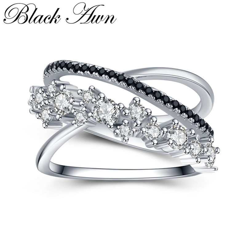 [BLACK AWN] 925 Sterling Silver Ring Female Bague Trendy Engagement Rings For Women Sterling Silver Jewelry G075