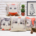 Cotton Pillow Sofa Cushion Meow Star People Kitty Cute Pillow Office Backrest Bedroom Living Room Automobile Pillow