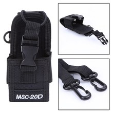 Walkie Talkie Bag Case Holder MSC-20D PTT Nylon Carry Cover Case with Sling for Kenwood BaoFeng UV-5R BF-888S Radio Devices