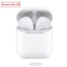 Мини Размеры IFANS TWS I9S беспроводной наушники Bluetooth 5,0 бинауральные вызова с микрофоном для iPhone 6 8 7 samsung xiaomi huawei