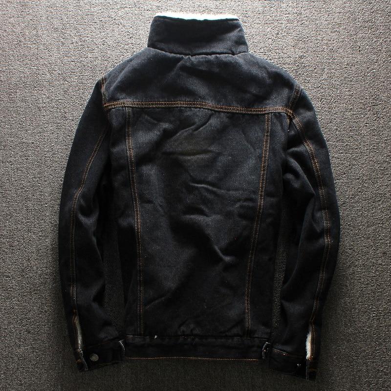 2019 herfst winter nieuwe heren bontvoering fleece jas mode slim fit - Herenkleding - Foto 6