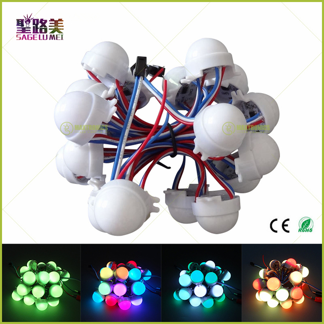 DC12V WS2811/WS2801/DMX512/LPD6803 Pixel Módulo LED Full Color RGB 3 LEDs 5050 luzes led string D30 módulos IP68 0.72 W Natal