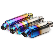 Length 305mm 0r 360mm Motorcycle Exhaust Pipe With Removable DB killer Escape Moto Case For CBR125 CB400 R6 R15 GXSR Z750