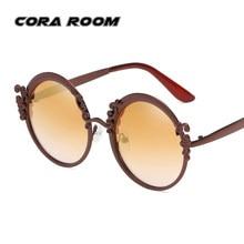 883a76c689b Retro Personality Metal Round Frame Diamond Sunglasses Italian women s designer  brand Sexy women s glasses