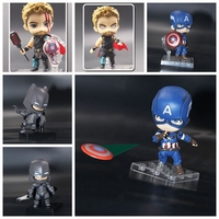 The Avengers Cute Ver Anime Action Figures Thor Odinson Model Toys Captain America Figurine Batman Batman 10cm PVC For Kids Gift