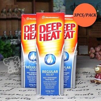 3PCS Australia DeepHeat Pain relief muscular aches, strains lower back pain, arthritis, rheumatism Pain Relief Cream Massage Gel