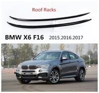 Para BMW X6 F16 2015.2016.2017 barras de Tejadilho Bagageiro Auto Instalação Pasta Nova Marca De Alumínio de Alta Qualidade Acessórios Do Carro