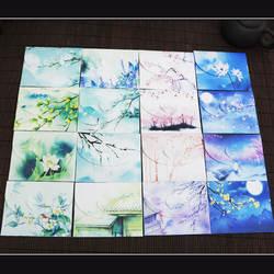 10 наборы для ухода за кожей милые китайский Винтажный стиль цветы бумага конверт письмо Творческий канцелярские бумажные открытки карты