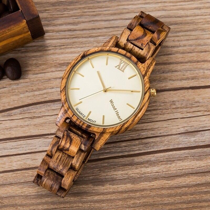 Super Light Slim UWOOD Wood Heart Limited Natural Wooden Watch Quartz Movements
