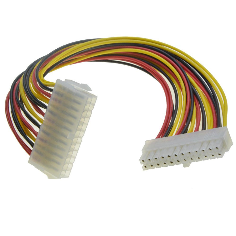 24Pin ATX Power Supply Extension Cable 24 <font><b>Pin</b></font> Male to Female Power Port Cable 20 +4 <font><b>Pin</b></font> Desktop Internal PSU Power cable image