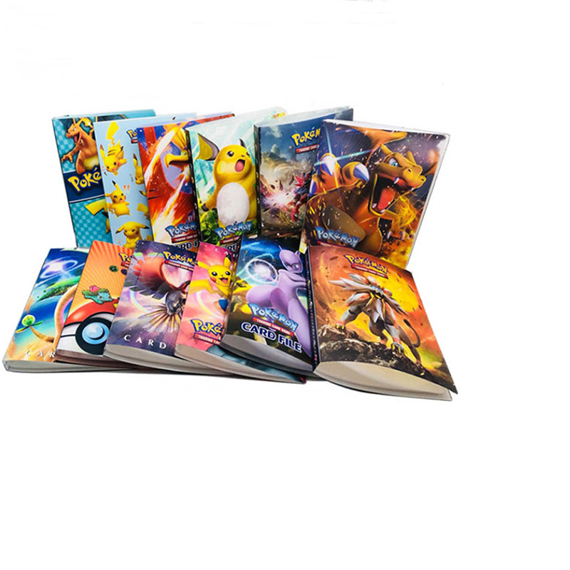 Cartoon Anime Pocket Monster Cards Book Pikachu 240pcs Holder Album Toys Collection Pokemon Cards Album Book Top For Kids Gift