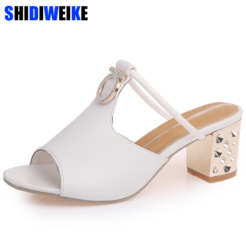 Women Sandals 2018 Ladies Summer Slippers Shoes Women high Heels Sandals Fashion Rhinestone summer shoes m684 rhinestone sandals summer shoes women pumps transparent womens shoes heels strappy heels ladies shoes