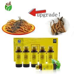 12 garrafas/2 pacotes rei de cordyceps sinensis oral líquido chinês cordyceps erva extrato mashroom melhorar a imunidade anti envelhecimento