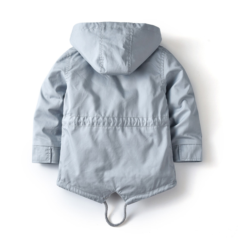 Image 2 - 2 3 4 5 6 7 Years Baby Toddler Boys Girls Spring Autumn Jacket Brand Kitted Tops Outerwear Boys Hooded Clothes Children OutfitJackets & Coats   -