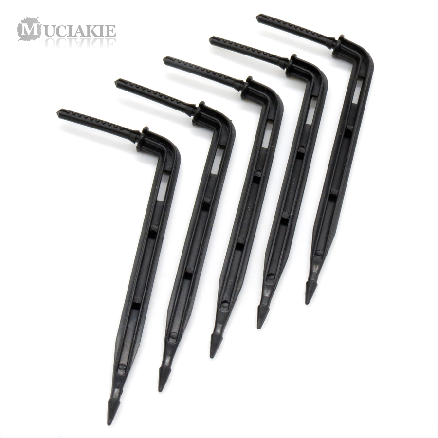 MUCIAKIE 25PCS Black Arrow Drippers Plastic Drip Spike Connection 1/8'' (3mm) Tubing Hose Garden Irrigation Fittings Emitter
