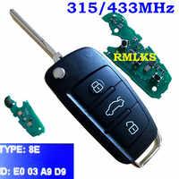 3 taste Folding Flip Remote Key Fob 433mhz Spezielle 8E Chip Für Audi Q7 8E0 837 220R 315Mhz für A6L 8E0837220Q