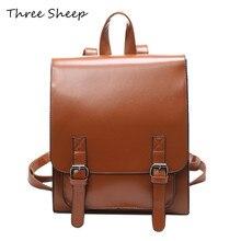 Старинные коричневый рюкзак женские рюкзаки для девочек школьные сумки для девочек черный искусственная кожа Женщины Рюкзак Mochila Feminina Rucksa