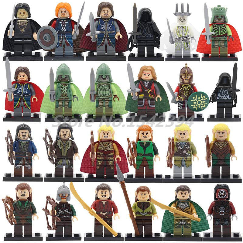 Single Sale Building Blocks The Lord of the Rings Hobbit Mini Dolls Aragorn Theoden Grima Boromir Bricks DIY Toys For Children hot sale the hobbit lord of the rings mordor orc uruk hai aragorn rohan mirkwood elf building blocks bricks children gift toys