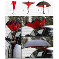 Creative inverted handle umbrella Anti wind fiber bone double layer cloth sunshade ultraviolet proof umbrella Inverted Umbrella