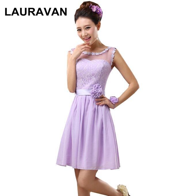 2018 Women Korean Formal Woman Girl A Line Lavender Bridesmaid Dress