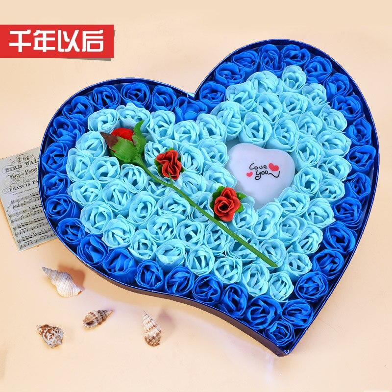 Boîte cadeau fleur savon simple cadeaux créatifs pour envoyer sa petite amie copines femme cadeau d'anniversaire surprise particulièrement romantique