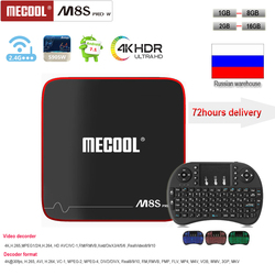 MECOOL M8S PRO W Amologic S905W Android 7.1 2gb+16gb memory smart tv box support i8 keyboard 2.4G WiF H.265 4K UHD media player