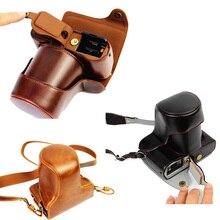 Роскошный кожаный видео Камера сумка для Fuji Fujifilm X-E1 XE1 X-E2 XE2 защиты крышка открыта с ремешком