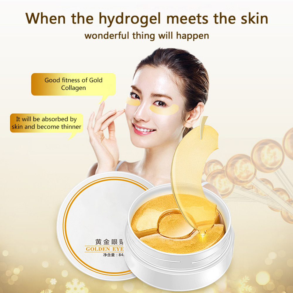 Gold Hydro Gel Eye Mask Spot Patch 90pcs Dark Circles Moisturizing Whitening Ageless Collagen Sleeping Eyes Skin Care In Creams From Beauty