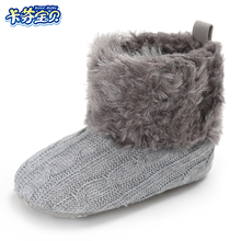 Winter Warm Newborn Baby Boys Girls Toddler Shoes Infant knitting Soft Soled Anti-slip Boots