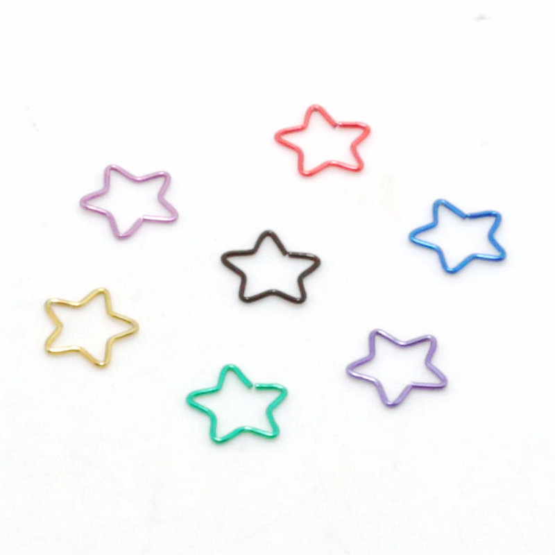 Dreamlee 20pieces Surgical Steel star Shape Earring Nose hoop Ring Tragus Nipple Labret Body Piercing Jewelry