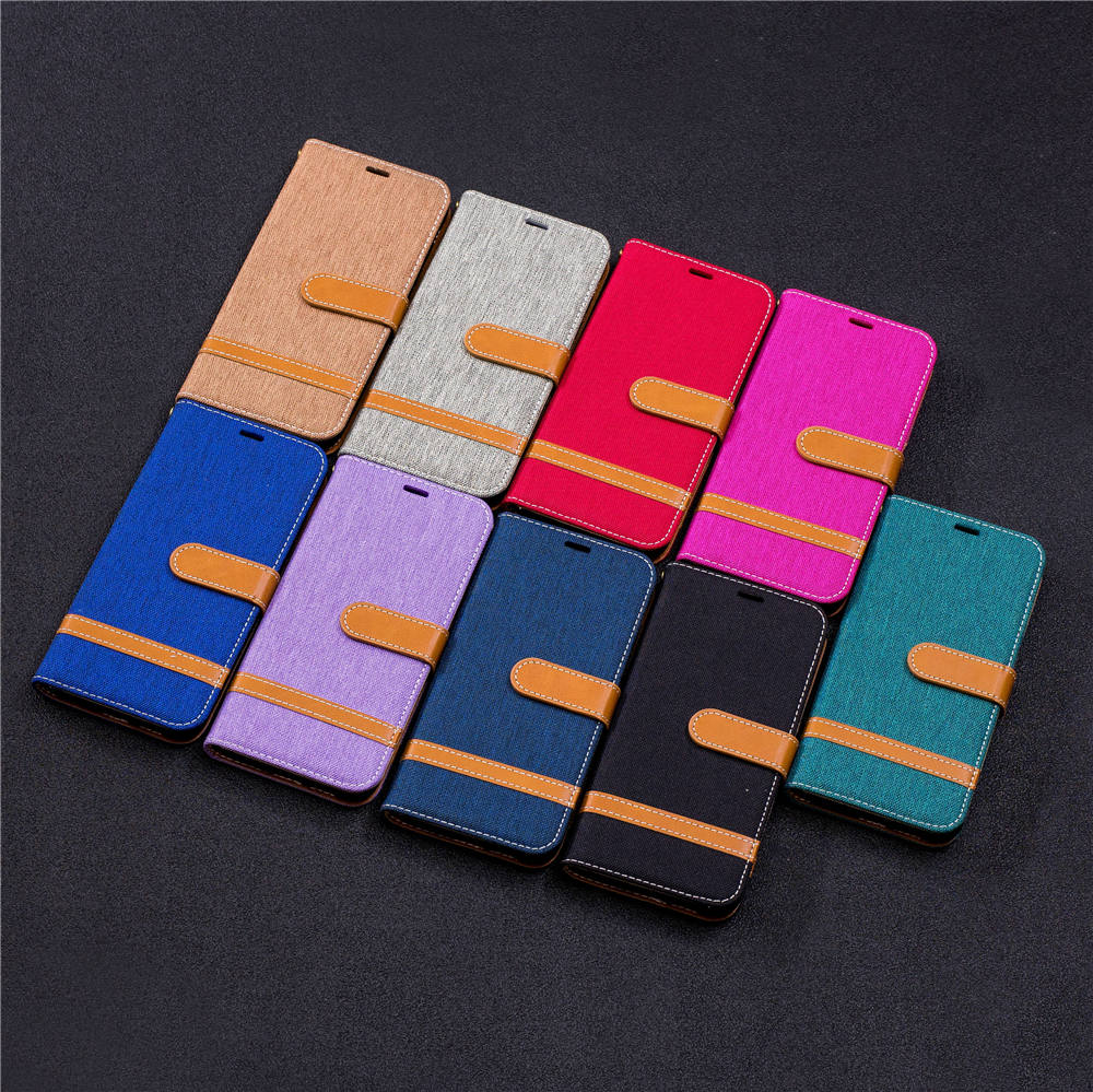 Denim Wallet Book Flip Covers For Samsung Galaxy A6 2018 SM-A600FN/DS 32GB SM-A600N TPU Cases For SAMSUNG A6 2018 Cases Covers