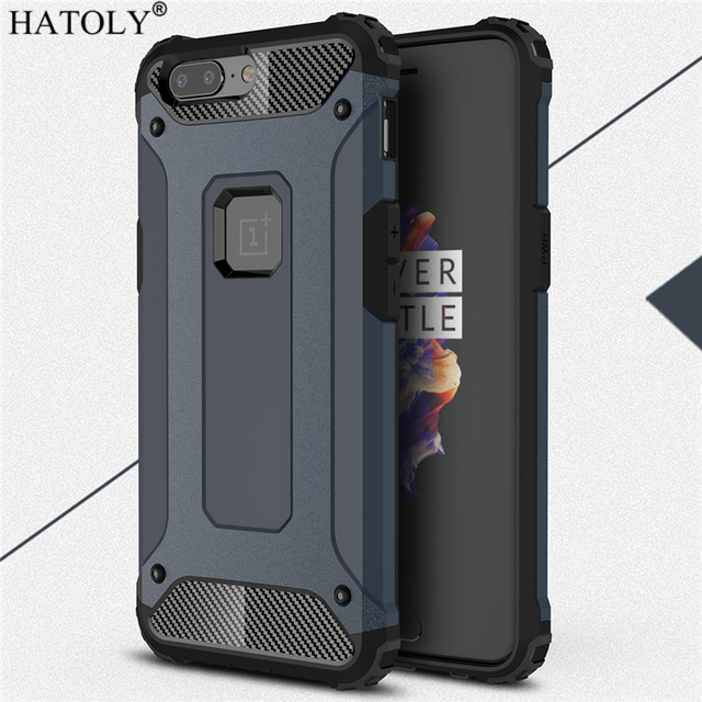 new products 2b7fc 07f10 US $2.68 37% OFF|HATOLY For Coque Oneplus 5 Case Oneplus 5 Heavy Duty Armor  Slim Hard Rubber Cover Silicone Phone Case for One Plus 5 A5000-in Fitted  ...