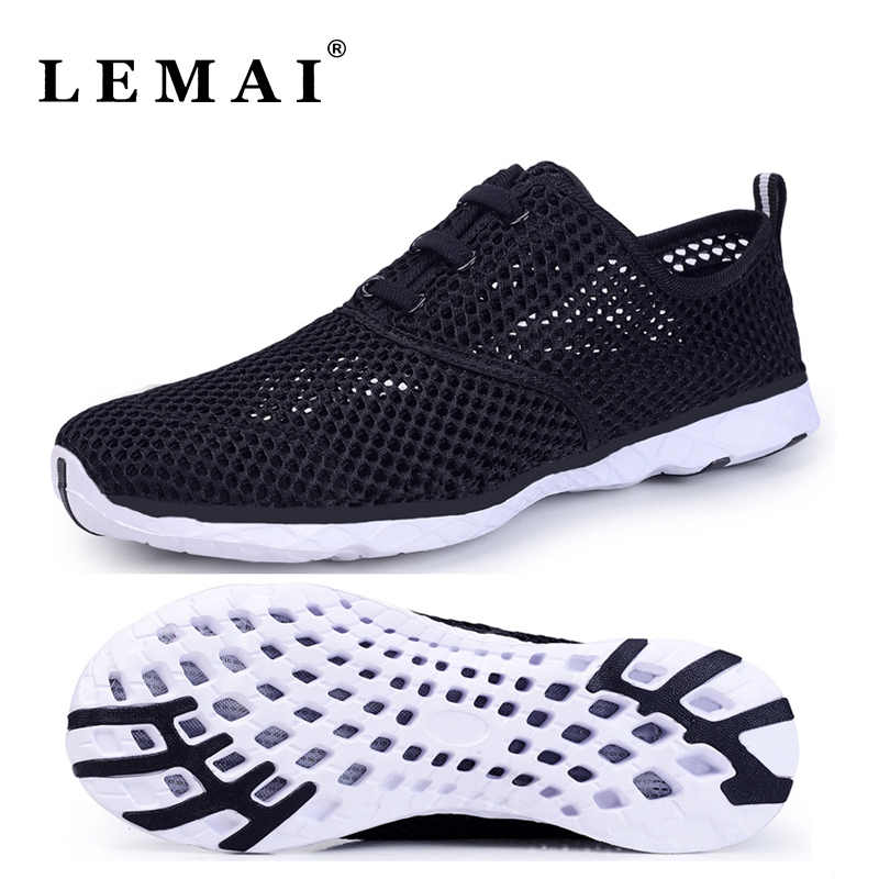 Unisex Summer Men Running Shoes Women Sneakers 2017 Mesh Breathable Sport  Shoes Men Beach Water Shoes 5ad08cff438