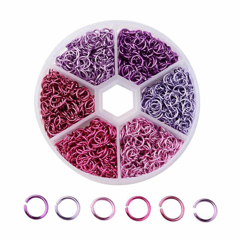 1080 ชิ้นผสมสีแหวนผู้หญิงแหวนเชื่อมต่อสร้อยข้อมือต่างหูสร้อยคอจี้ DIY เครื่องประดับอุปกรณ์เสริม R5G