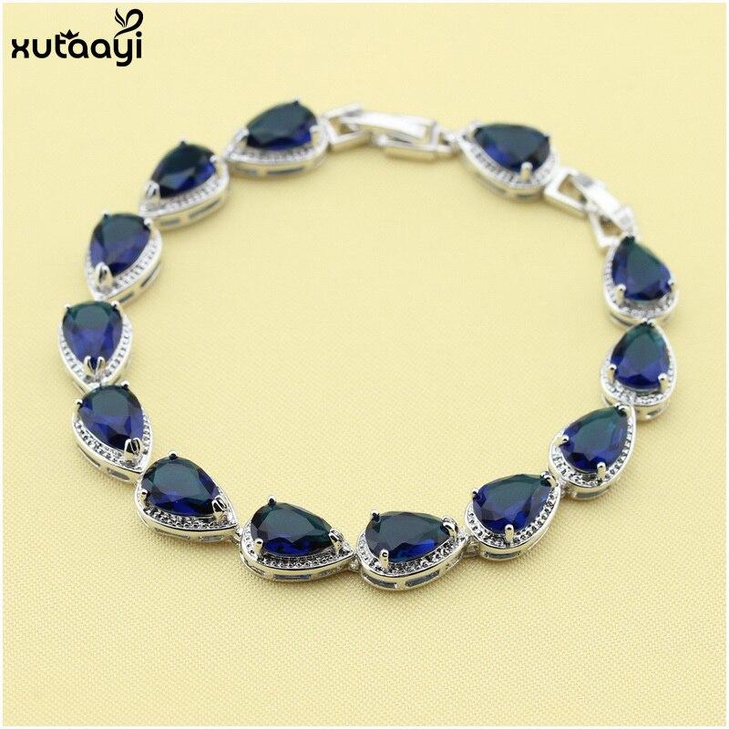 XUTAAYI Ən yüksək keyfiyyətli 925 gümüş zərgərlik, mavi - Moda zərgərlik - Fotoqrafiya 6