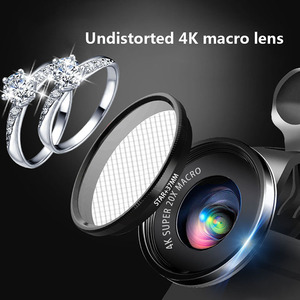 Image 4 - Mini 4K HD Super 20X mikrofon obiektyw szerokokątny do aparatu Smartphone 2019 nowość