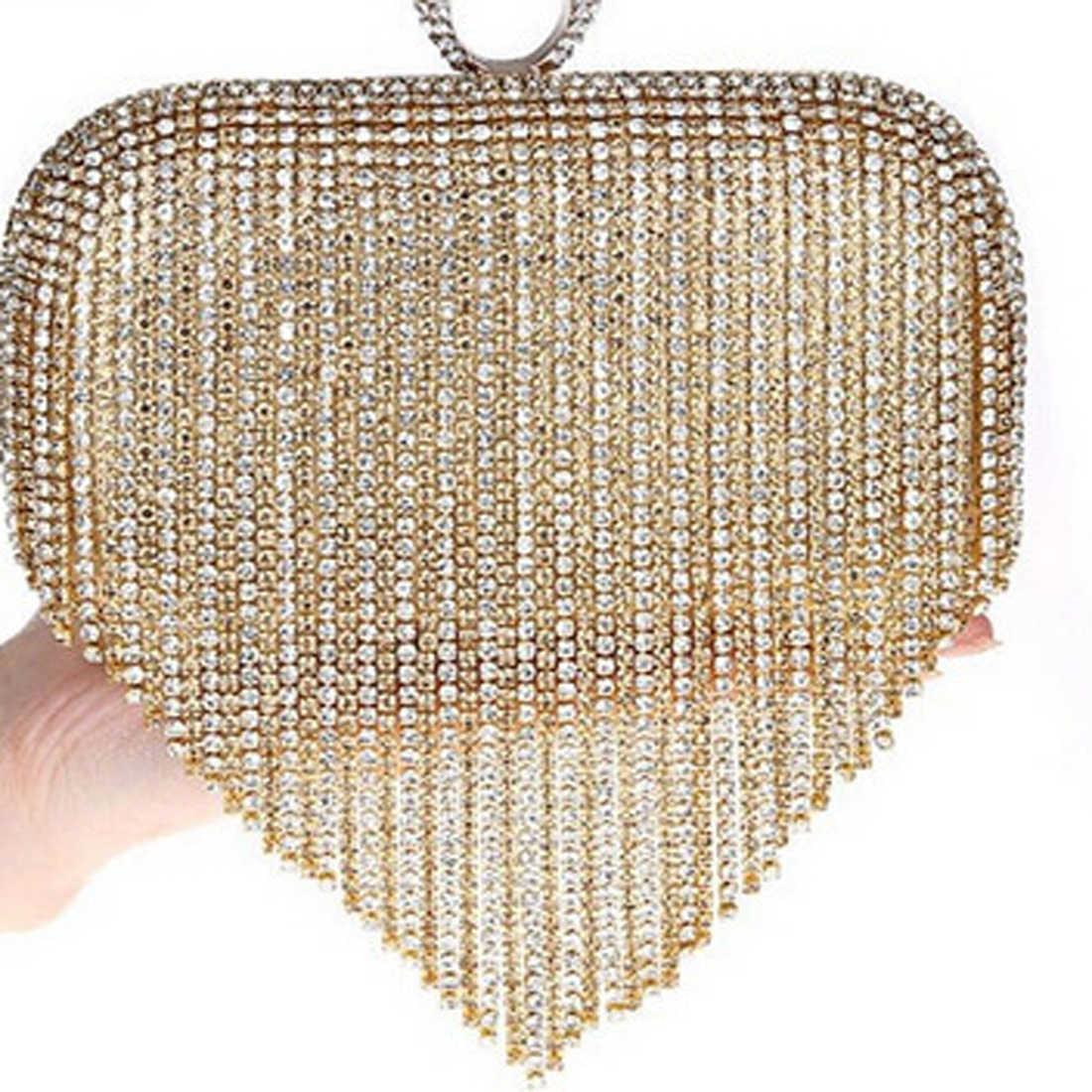 2017 кисточкой горный хрусталь палец кольцо вечерние сумки с бриллиантами свадебные сумочки Женский Повседневный клатч мини кошелек сумка с цепочкой смешанных цветов