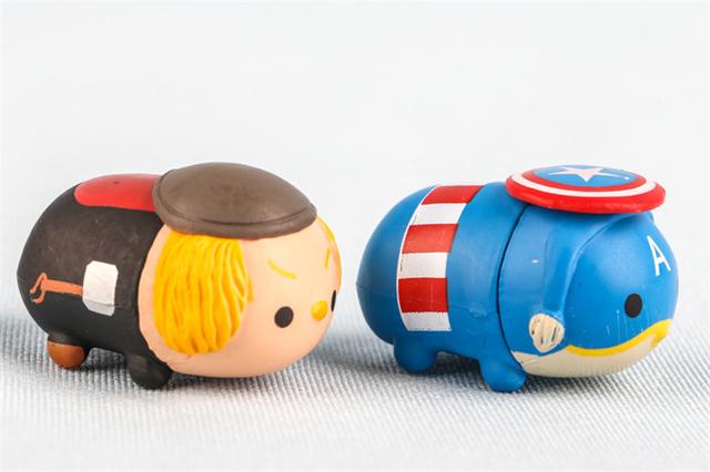 J Ghee 10pcs/set Tsum Tsum Mini lot The Avengers Captain America Star Wars Q version PVC Figures Collectible Model Toys