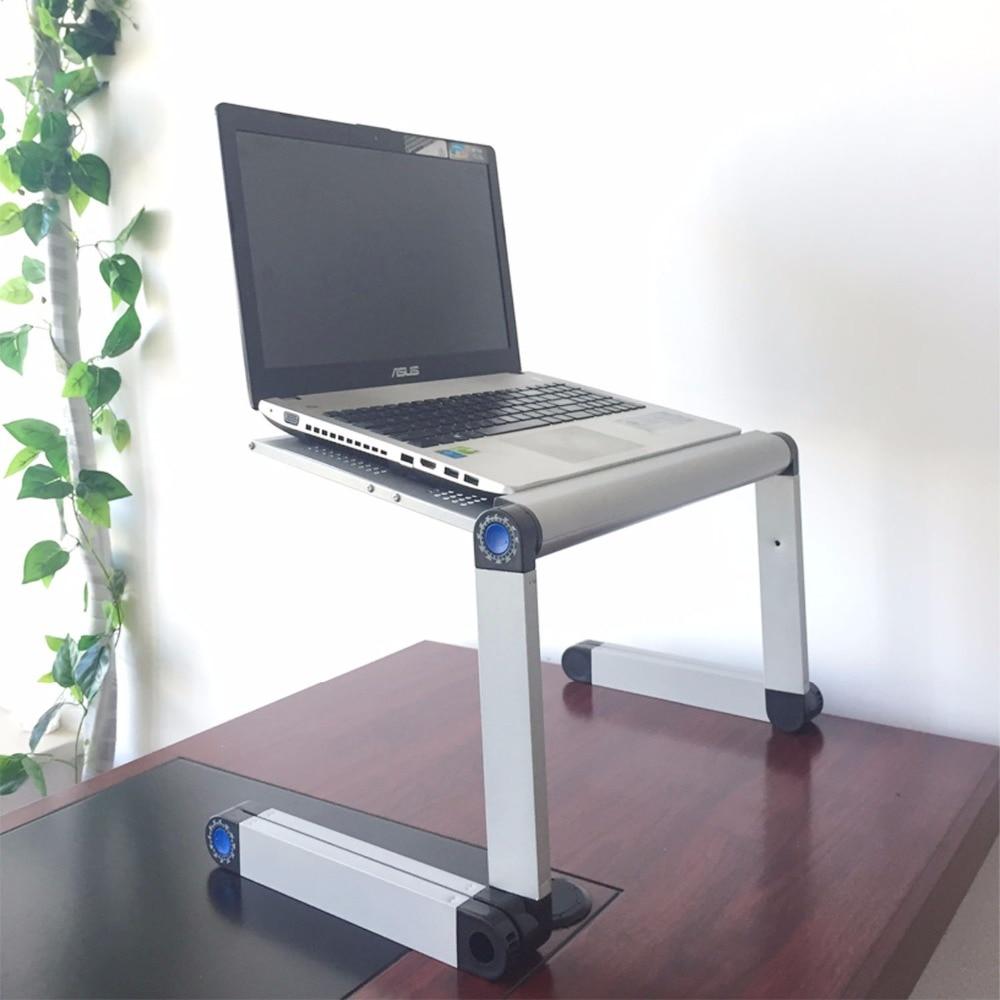 Justerbar bärbar bärbar dator Bordsställ Lap Bäddsoffa Fack Dator - Möbel - Foto 3