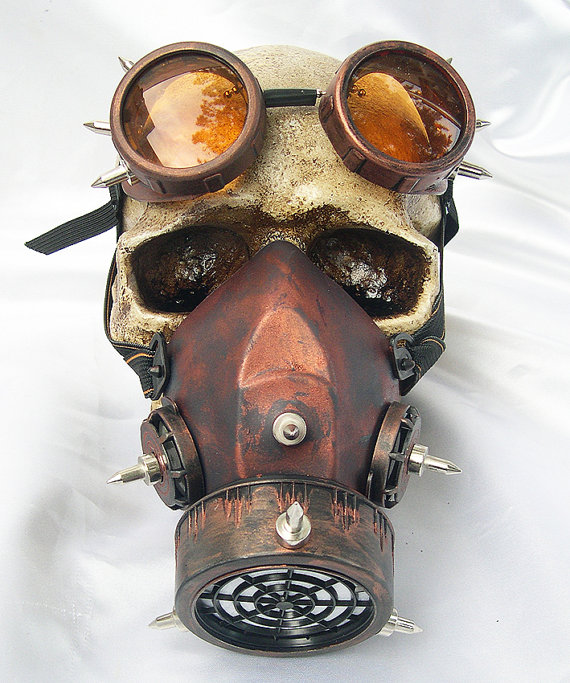 Image 5 - Steampunk Retro Glasses Gas Masks And Goggles Gothic Cos Stage  Props Personality Anti fog Haze Maskmasking definitionmask  motorcyclemask realistic