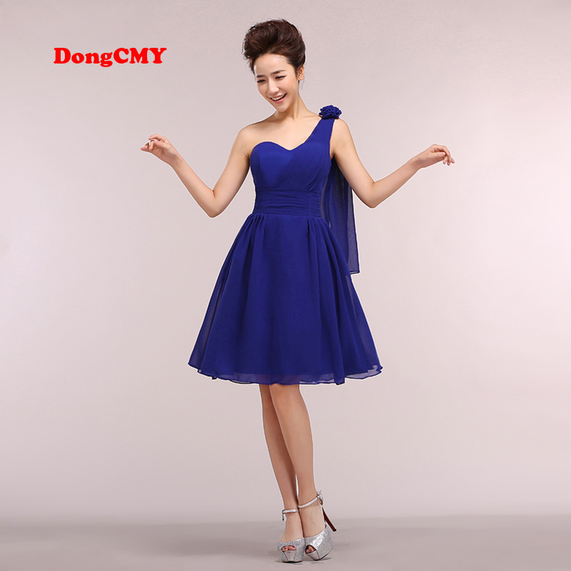 DongCMY 2017 new elegant short fashion one-shoulder   prom     dress