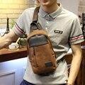 Design da marca de moda homens de couro de cavalo louco pu sacos do mensageiro sacos de viagem dos homens pacote peito casuais sacos de ombro lazer bolsos